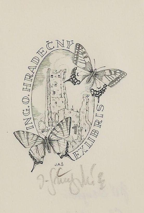 Svengsbir J A Motyli Exlibris 1943 Exlibris Ex Libris