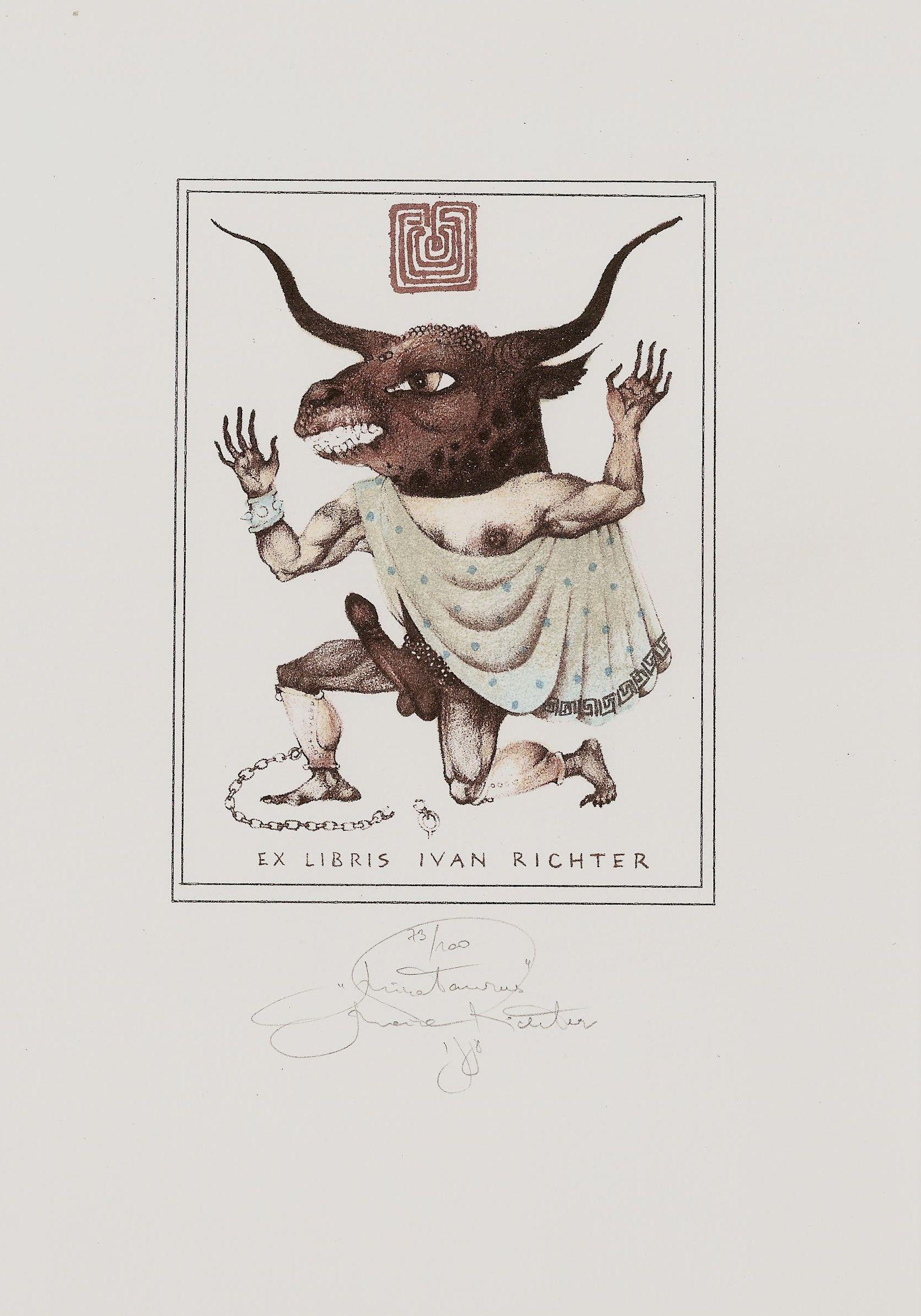 Richter Marina Byk Exlibris Ex Libris Bibliofilie Kresby